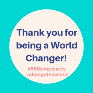 Thank you for being a World Changer!